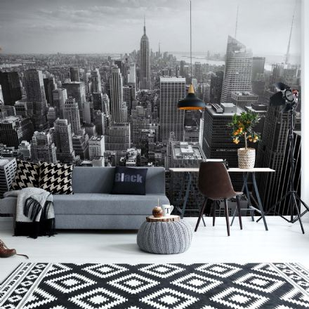 Paper photo wallpaper New York Citty Black & White